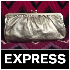 Express Genuine Leather Clutch